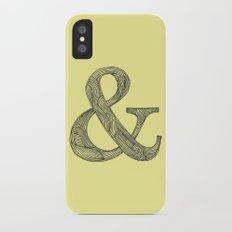 Yellow Ampersand Slim Case iPhone X