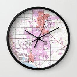 Vintage Map of Oxnard California (1949) Wall Clock