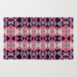 Diamond Geometric Power Pattern in Broad Spectrum Pink Rug