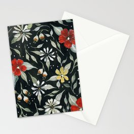 Southwest Style Oval Floral Gouache Painting Stationery Cards