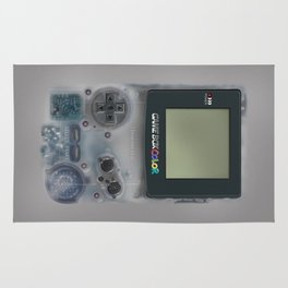 Classic retro transparent white grey game watch iPhone 4 5 6 7 8, tshirt, mugs and pillow case Rug