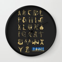 AlphaBowie: The David Bowie Typeface Wall Clock