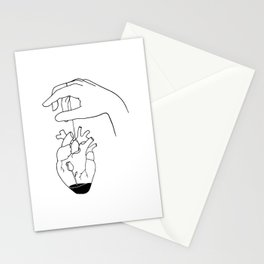 How can you mend a broken heart Stationery Cards