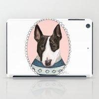bull terrier iPad Cases featuring Bull Terrier by Rhian Davie