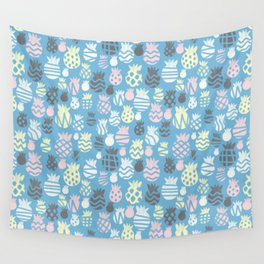 It's raining pineapples Wall Tapestry