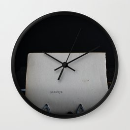 One Thing Left to Say Wall Clock