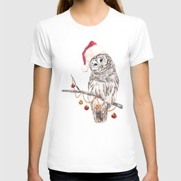Christmas Owl GREETING T-shirt
