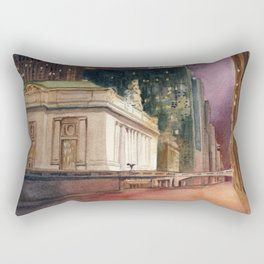 Grand Central Station and the Chrysler Building II Rectangular Pillow