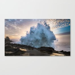 Monster Waves at Shore Acres State Park in Oregon Canvas Print
