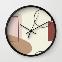 live with love - on ebony backgroung Wall Clock