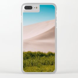 Dune green blue Clear iPhone Case