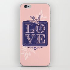 love type swallow iPhone & iPod Skin