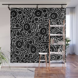 CIRCLES IN MOTION- Monochrome line work Wall Mural