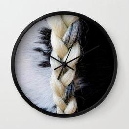 Equine Braid Wall Clock