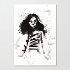 Soldados muertos (sketch version) Canvas Print