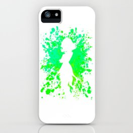 Anime Hero Paint Splatter Inspired Shirt iPhone Case