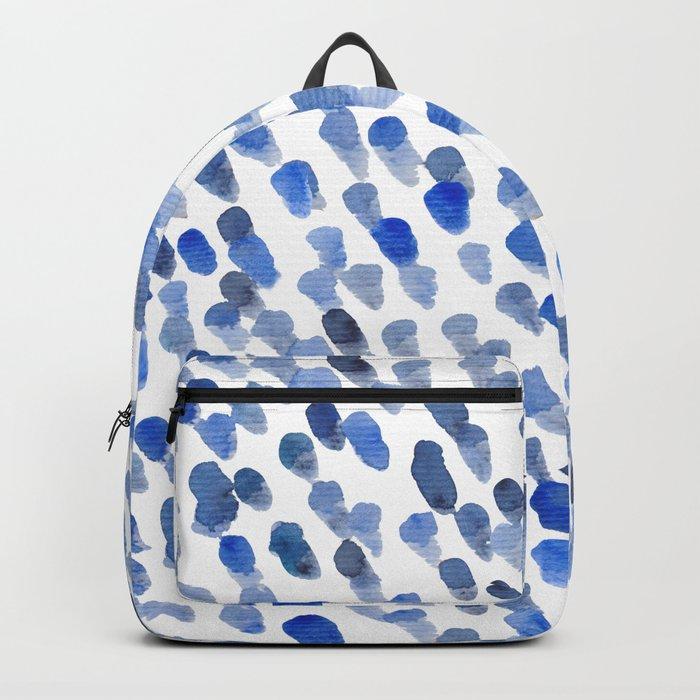 Imperfect brush strokes - blue Rucksack