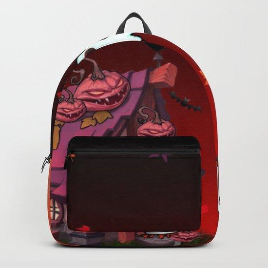 Halloween Pumpkin House Backpack