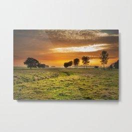 Countryside Sunset Landscape Metal Print