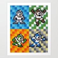 Rockman Beats Scissors Art Print