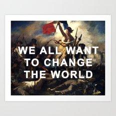 Liberty Leading the Revolution Art Print