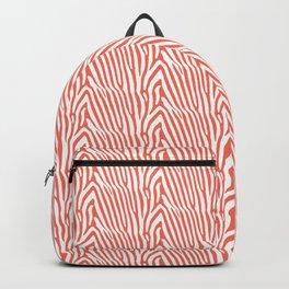 CORAL ZEBRA PATTERN Backpack