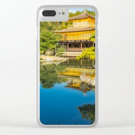 The Golden Pavilion Garden Landscape in Kyoto, Japan. Clear iPhone Case