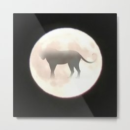Leopard Moon Metal Print