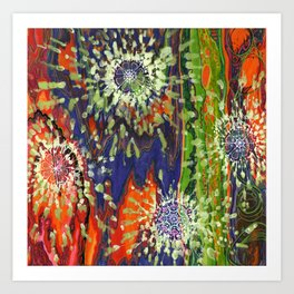Induced Cosmic Revelations (Four Dreams, In Mutating Cycle) Art Print