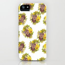 Butter Yellow Pansies Pattern iPhone Case