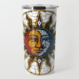 Celestial Mosaic Sun and Moon COASTER Travel Mug