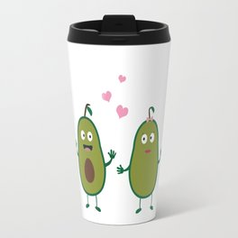 Avocados in love Travel Mug