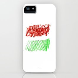 flag of hungary - chalk version iPhone Case
