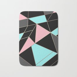 Abstraction . 5 geometric pattern Bath Mat
