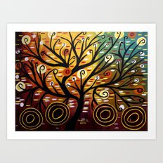 Abstract tree-9 Art Print