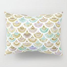 GOLDEN MERMACITA Watercolor Mermaid Scales Pillow Sham