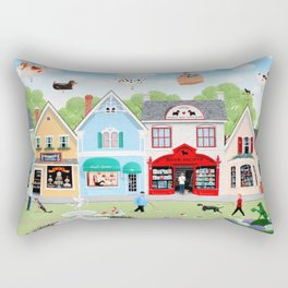 Dog Lovers Lane Rectangular Pillow