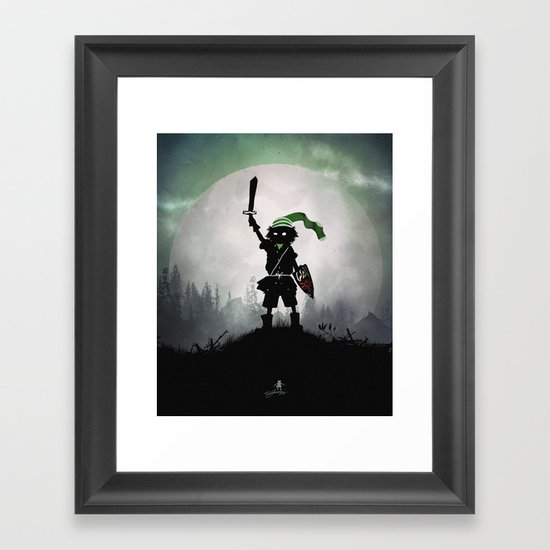 Link Kid Framed Art Print