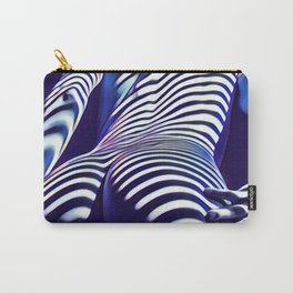 2020s-AK Sensual Blue Striped Woman from Behind Carry-All Pouch
