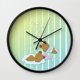 Sleepy Babies Wall Clock