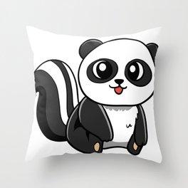 Panda Skunk Throw Pillow