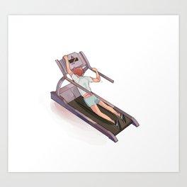oikawa on treadmill Art Print