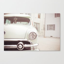 On The Car Canvas Print