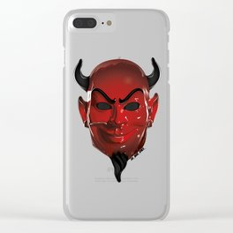 Red Devil Clear iPhone Case