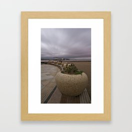 Weston-Super-Mare Seafront View Towards The Grand Pier Framed Art Print