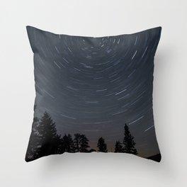 Yosemite Star Trails Throw Pillow