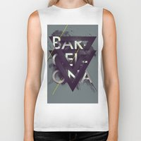 barcelona Biker Tanks featuring Barcelona by Giga Kobidze