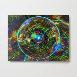 Luminous sphere absorbing energy Metal Print