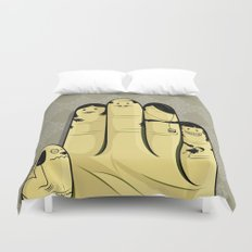 The finger family Duvet Cover