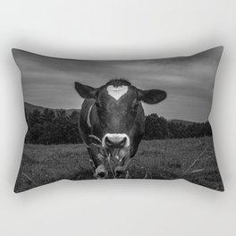 Dairy Cow Noir Rectangular Pillow